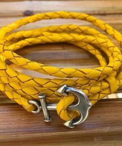 Leder Wickelarmband Maritim Anker-Armband