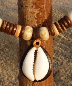 Surferkette Kauri-Muschel Muschelkette Halskette