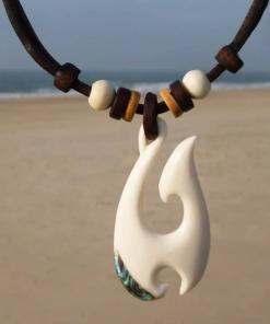 Maori Halskette Hei Matau Fischhaken