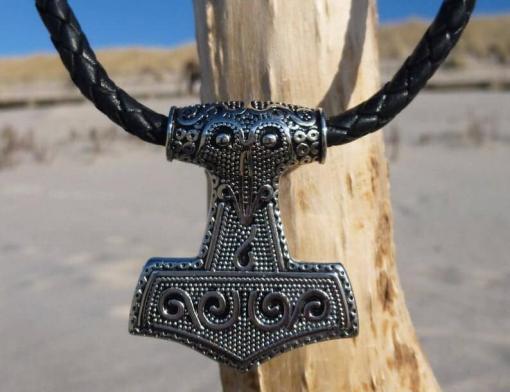 Lederkette Thors-hammer Mjölnir Halskette
