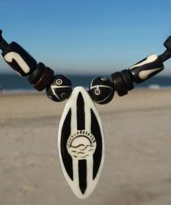 Surferkette Surfbrett Mancora Lederkette