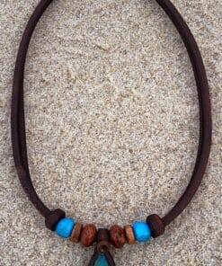 Indianer Halskette Türkis Stein