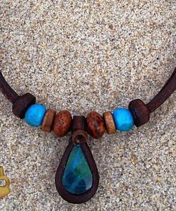 Indianer halskette Türkis