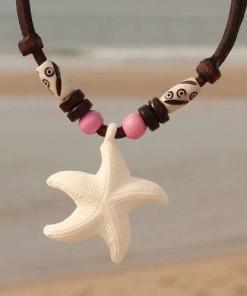 Surferkette Seestern Halskette Damenkette