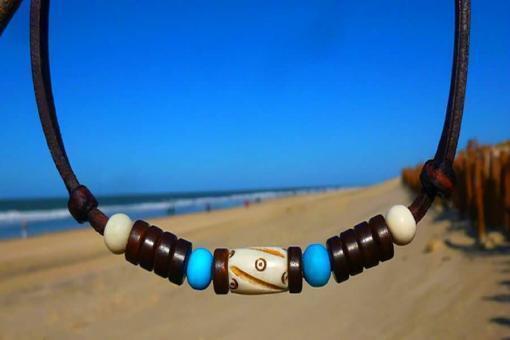 Indianerkette Halskette Unisex Lederkette