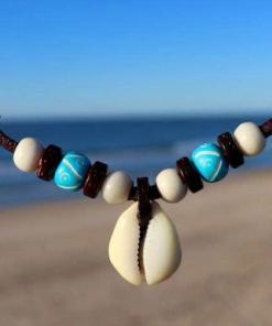 Muschelkette Kauri Muschel Halskette