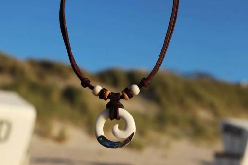 Halskette Koru Spiral Lederkette