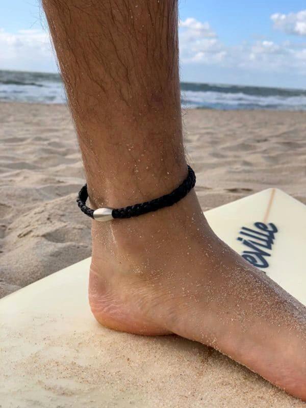 Leder Fußkette Fußband Fußkettchen1