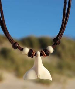 Walflosse Halskette Wal kette