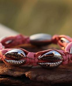 Muschelarmband Rosa Kauri-Muschel Damenarmband